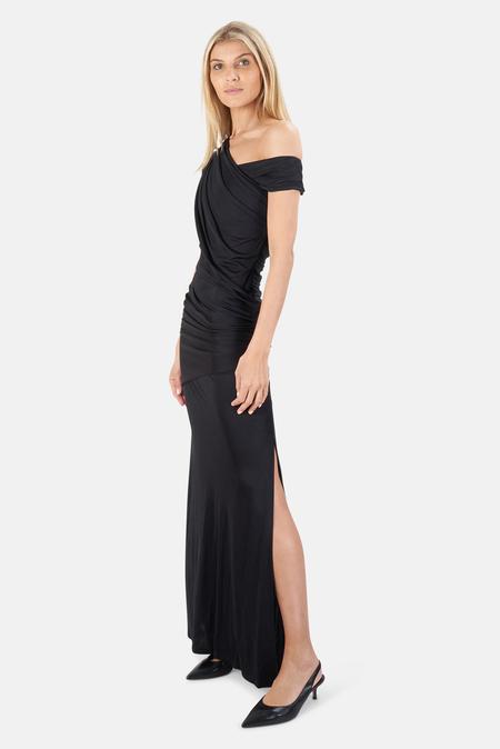 Alexander Wang Slinky Long Goddess Dress - Black