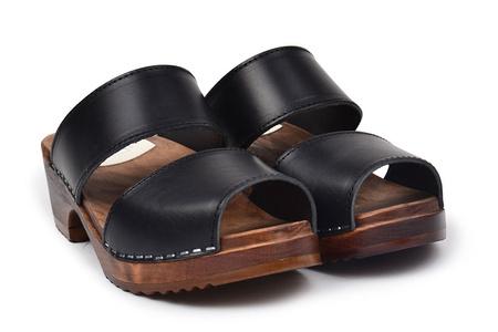 maguba Leather Tokyo Sandal Clog - Black