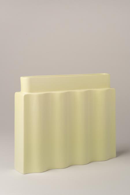 Los Objetos Decorativos Waves Vase - Lime