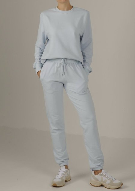 Parentezi High Rise French Terry Sweatpants - Baby Blue