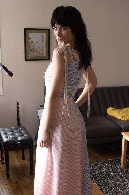 Eliza Faulkner Half and Half Dress - Gingham