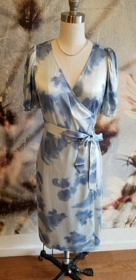 Just Female Laguni Wrap Dress - Silver Lake Blue