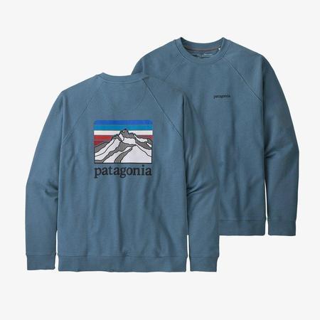 Patagonia Line Logo Ridge Organic Cotton Crew Sweatshirt - Pigeon Blue