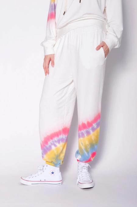 Stateside Softest Fleece Tie Dye Sweats - White/Multi