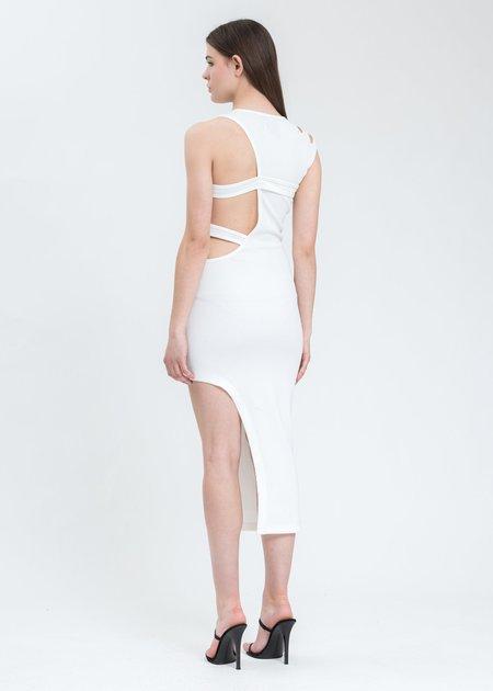 Feng Chen Wang Jersey Logo Dress - White