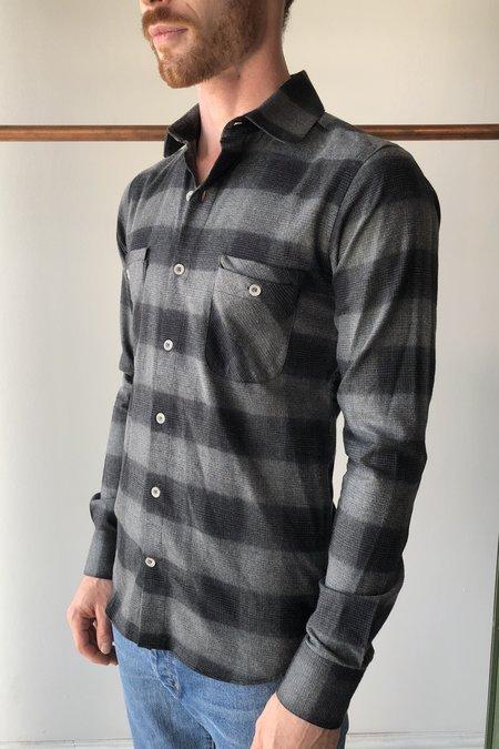 18 Waits Woodsman Pocket Shirt - Charcoal Check