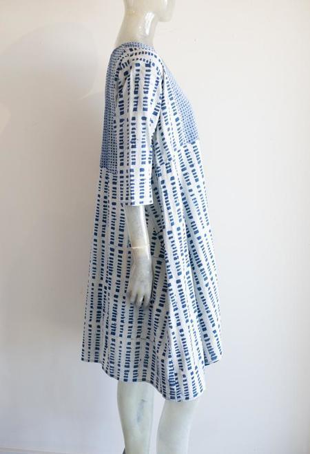 Yaza Print Tunic - blue