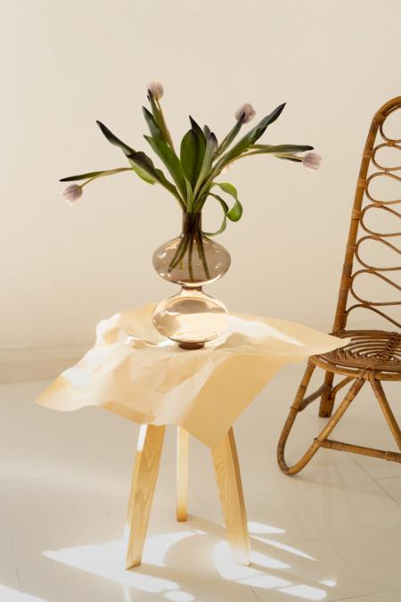 Los Objetos Decorativos Fume Glass Vase