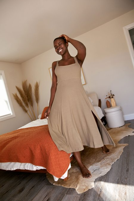 Whimsy + Row Frankie Dress - Sage Rib