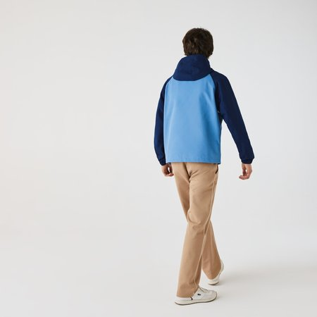 LACOSTE Hooded Smock Pullover Jacket - Colourblock
