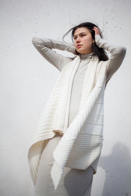 Lauren Manoogian Pinwheel Vest in White