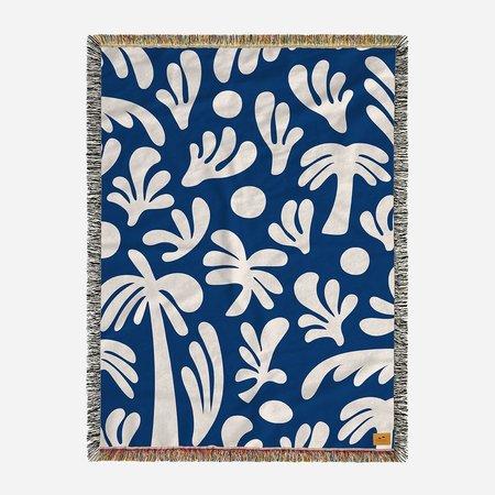 Slowtide Kingston Blanket - blue/white