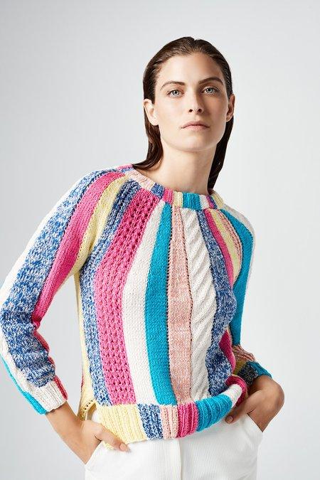 Smythe Handknit Awning Stripe Sweater - Multi