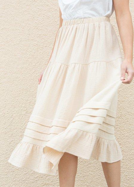 Rachel Pally Gauze Heather Skirt - Cream
