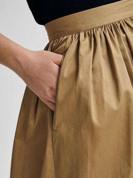 Selected Femme Wander Skirt - Kelp