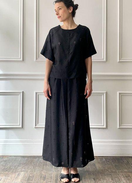 La Prestic Ouiston Cross Skirt - Black