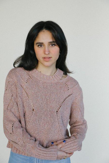 Line the Label Reina Sweater - Terra Cotta Sunset