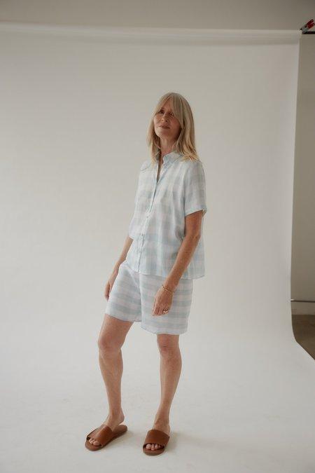 Mina Gingham Summer Short Sleeve Shirt - Mint