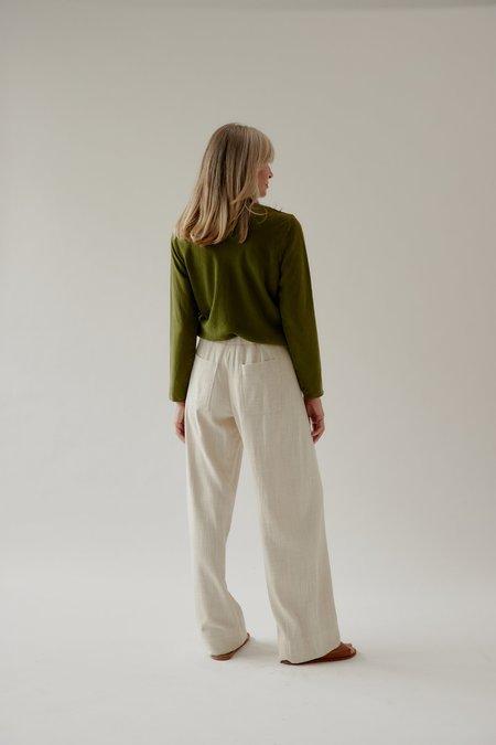 Mina Mali Button Up Pant - Natural