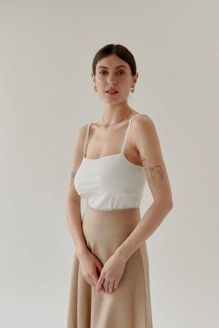 Mina Ribbed Singlet - Off White