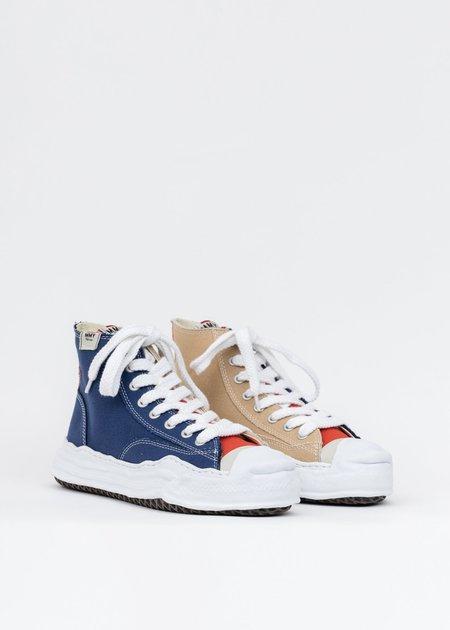 Mihara Yasuhiro Original Sole Toe Cap Canvas Hicut Sneaker - Navy/Beige
