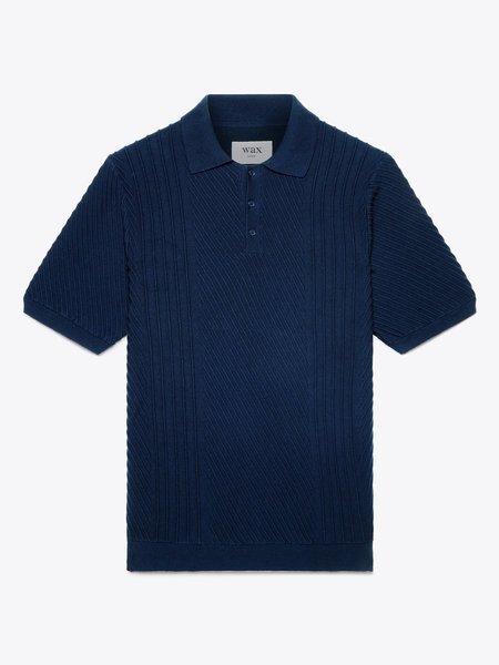 Wax London Naples Stretch Cotton polo - Navy