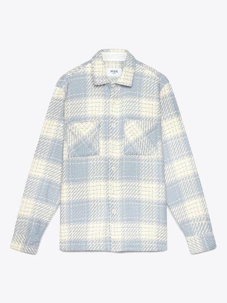 Wax London Whiting Heavy Beatnik  Recycled Cotton jacket - Ecru/Raindrop