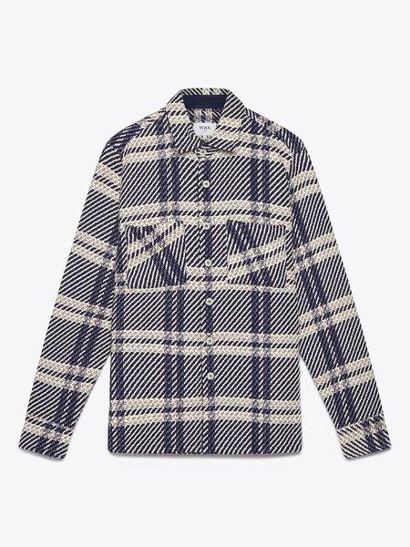 Wax London Whiting Heavy Beatnik Recycled jacket - Navy/Ecru