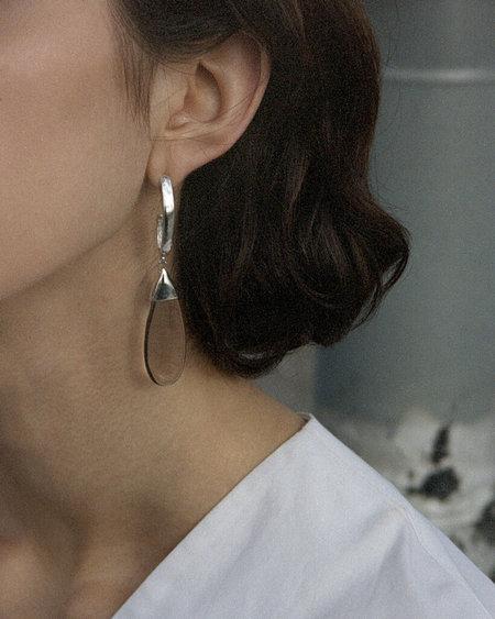 Luz Oritz Smoky Quartz Drop Earrings