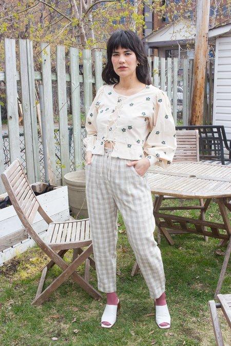 Meemoza Maelle Pants - Linen Check