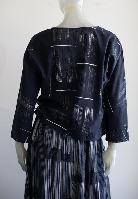 Yaza print Blouse - black/creme