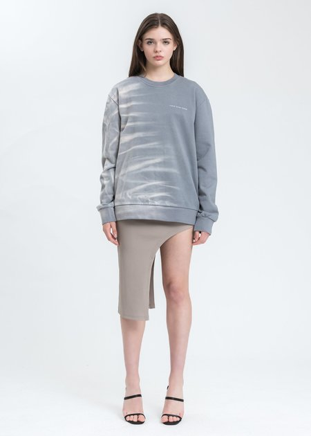 Feng Chen Wang Gradient Tie Dye Sweatshirt - grey