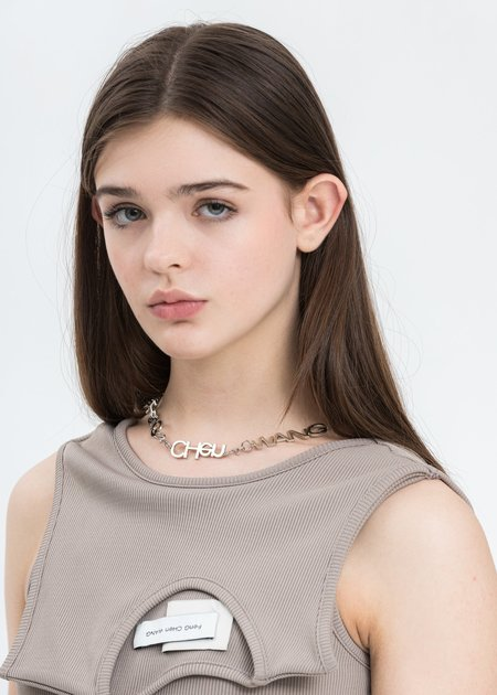 Feng Chen Wang FCW Steel Necklace - Silver