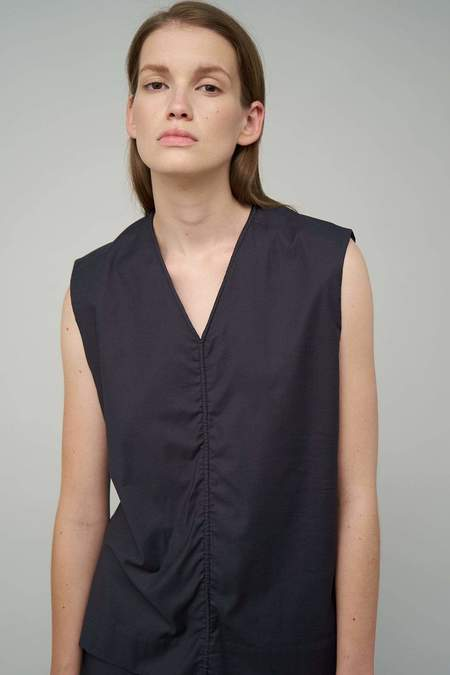 Oyuna Archive Jasia Woven Luxury Sleeveless Cotton Top - Fossil