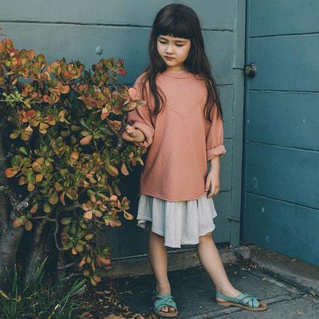 Kids Nico Nico Neve Heathered Sweatshirt - Rust Red