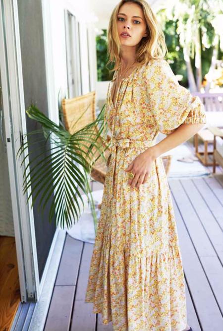 Emerson Fry Rakel Long Dress - June Calico