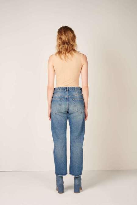 MM6 Maison Margiela Mid-rise Wide Leg Jeans - Blue