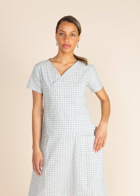 Echappees Belles Katie Checked Dress - Blue Check