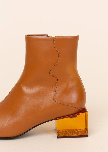 Unreal Fields Statuette Acrylic Heel Boot - Camel