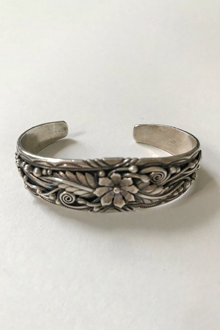 Vintage Antique Traditional Mexican Cuff - sterling silver