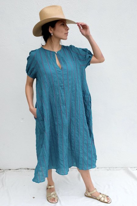 Pietsie Springs Dress - Turqoise/Pink Shadow Stripe