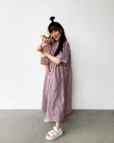 Atelier Delphine Lihue Wrinkled Cotton Dress - Desert Lavender