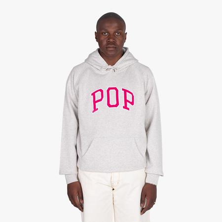 Pop Trading Company Arch Pullover Hoodie - Off White Heather
