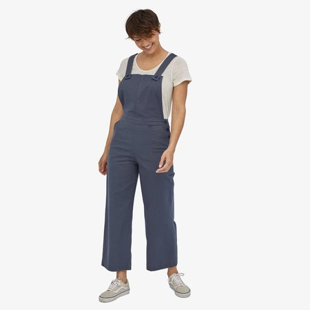 Patagonia Women's Stand Up Cropped Overalls - Dyno White