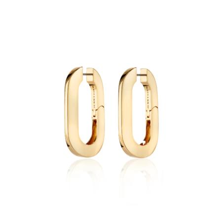 Jenny Bird Mega U-Link Earrings - 14K gold-dipped