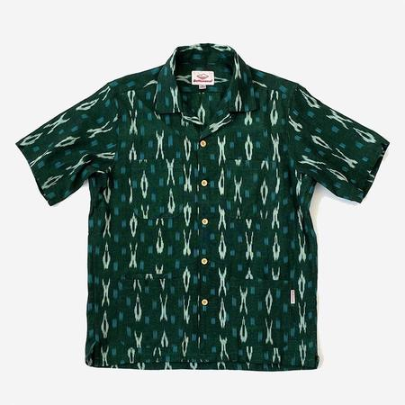 Battenwear Five Pocket Island Shirt - Green Ikat