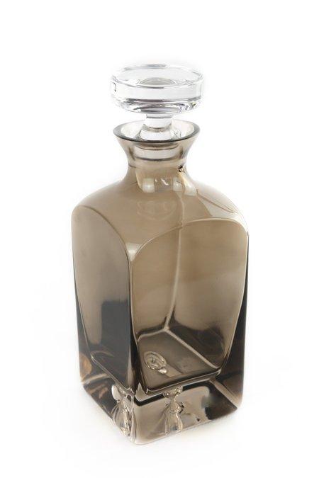 Estelle Colored Glass Decanter - Grey Smoke