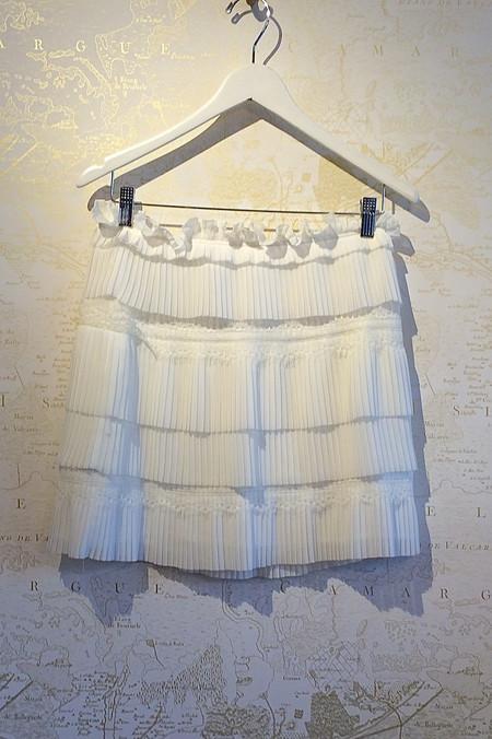 IRO Pleated Lace Mini 'Sevy' Skirt