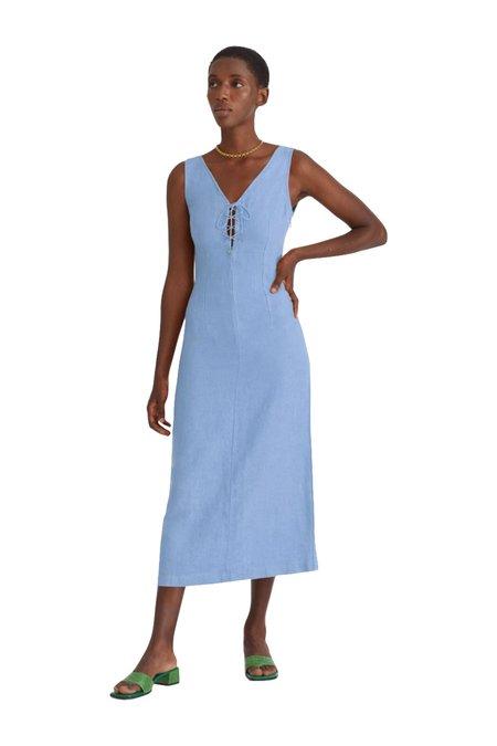 Paloma Wool EMMA Linen Dress - blue