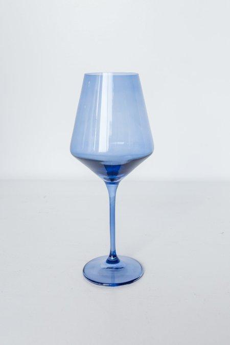 Estelle Colored Glass Wine Glasses - Cobalt Blue